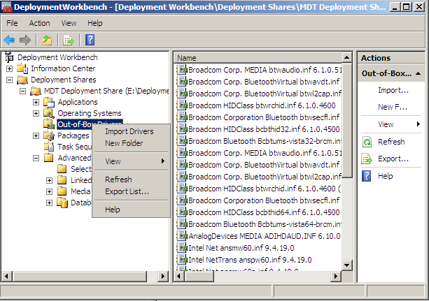 mdt inject drivers into wim