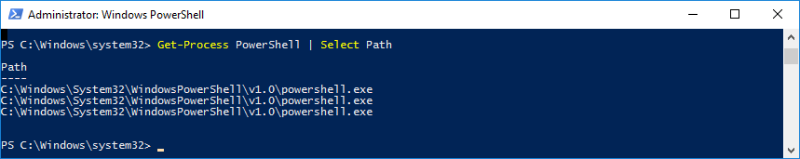Host Get Process PowerShell Path