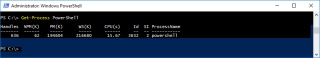 Container Get Process PowerShell