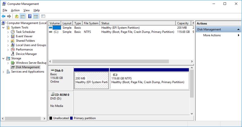 Disk Management Hyper-V