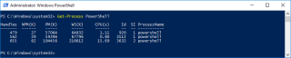Host Get Process PowerShell
